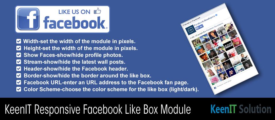 KeenIT Responsive Facebook Like Box