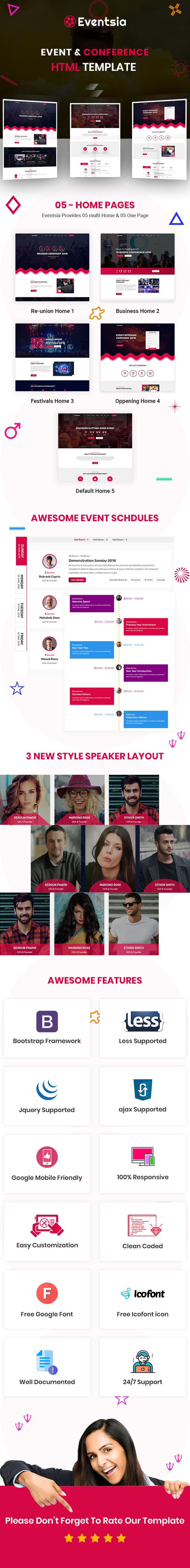 Eventsia - Event & Conference HTML Template